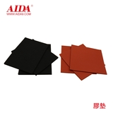 Red and black rubber pad